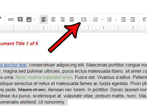 apply spacing to a whole document in google docs