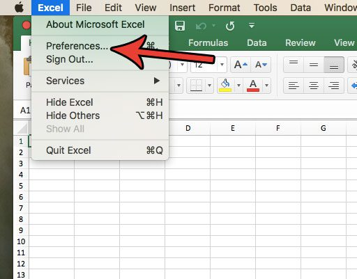 open excel for mac preferences
