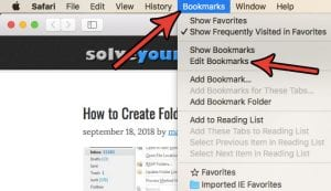 How to Delete Favorites in Safari on a Mac