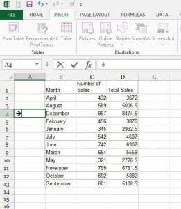 How to Insert an Arrow in Excel 2013