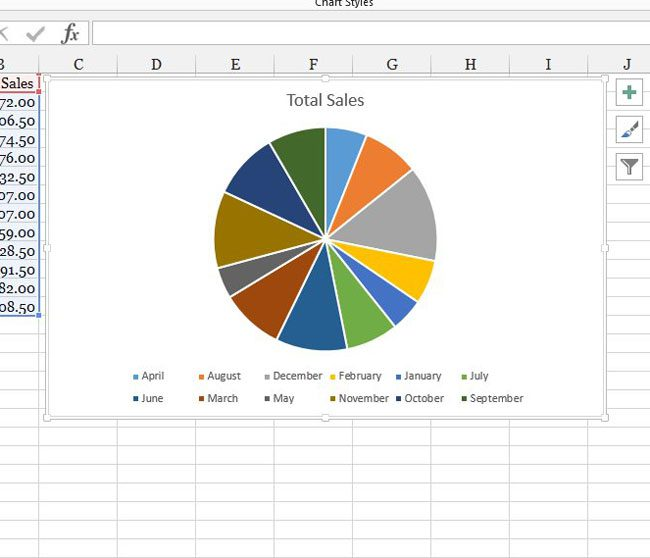 insert a pie chart in excel 2013