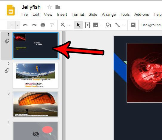 how to center a picture in google slides