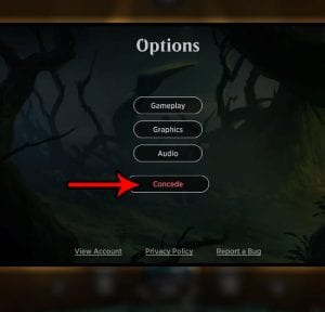 How to Concede a Match in Magic the Gathering Arena