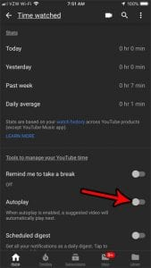 disable autoplay setting iphone youtube app