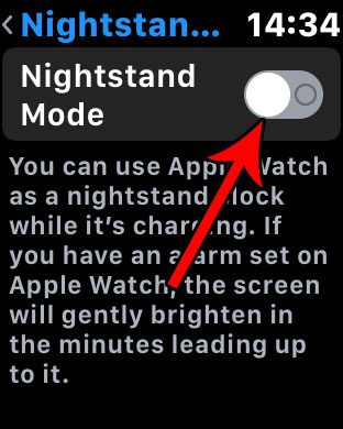 how turn off apple watch clock when charging