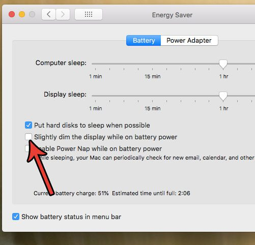 stop screen form dimming while on battery macbook