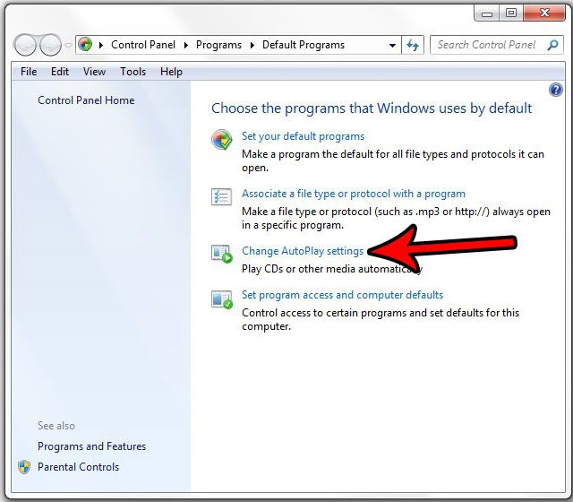 how to stop windows 7 from autoplaying discs