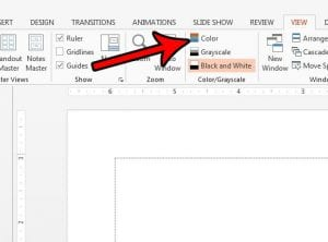 how to exit black and white or grayscale mode in powerpoint