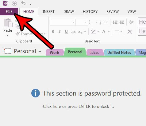 how to change the onenote 2013 default font