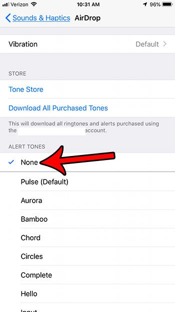 iphone disable sound from airdrop