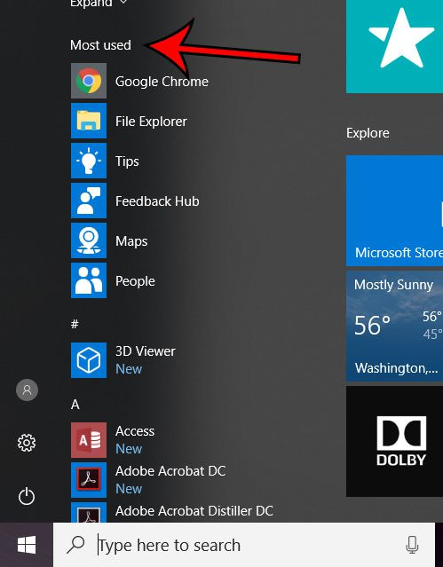 windows 10 most used apps