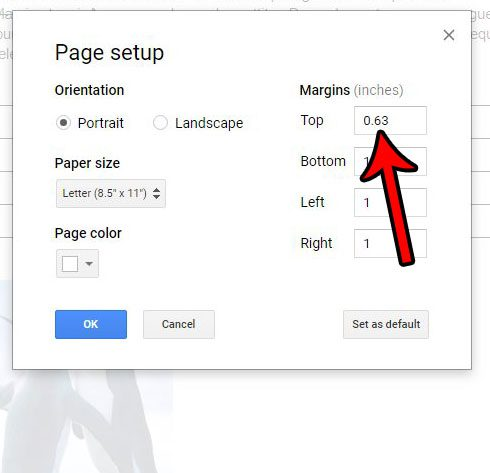 how to reduce header size in google docs
