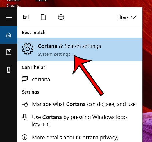 how to change cortana settings in windows 10