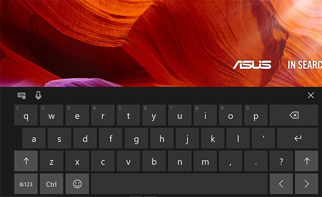 the windows 10 touchscreen keyboard