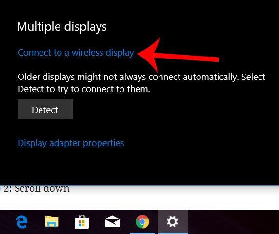 connect to a wireless display windows 10