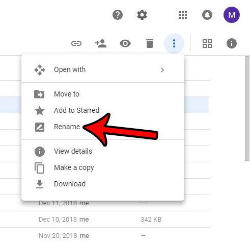 alternate method to rename google drive file