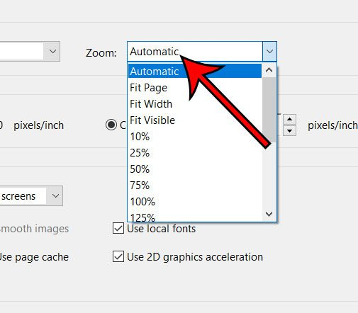 how to change default zoom in adobe acrobat pro dc