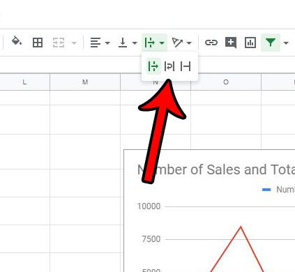 how to change text wrapping setting in google sheets
