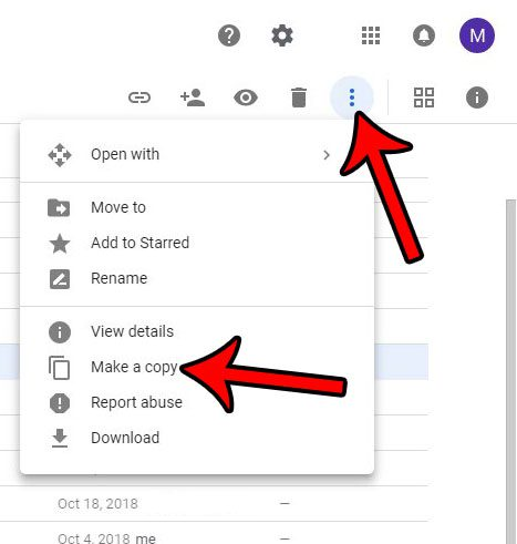 how to make a copy of a file in google drive