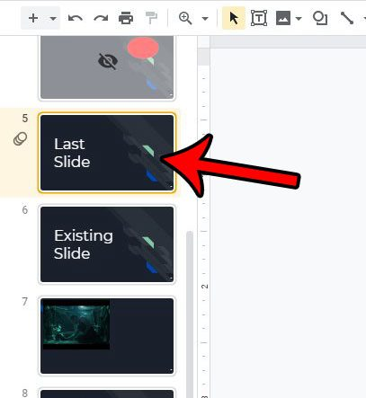 how to move slide to end in google slides