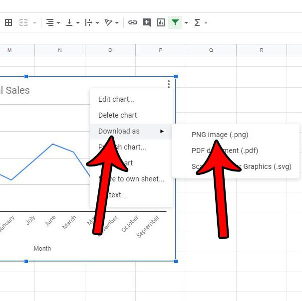how to download google sheets chart or graph as image