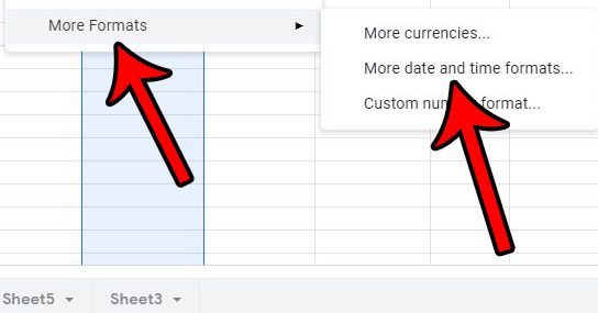 choose the more date and time formats option
