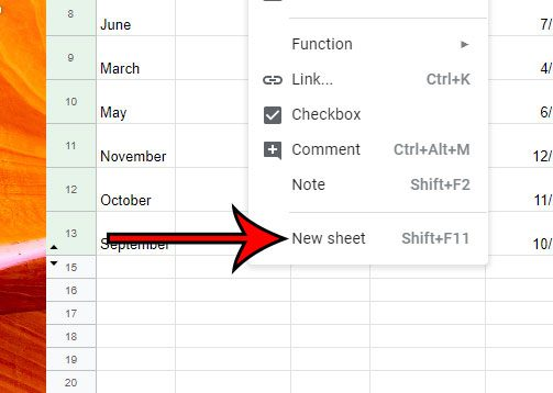 how to add a new sheet in google sheets