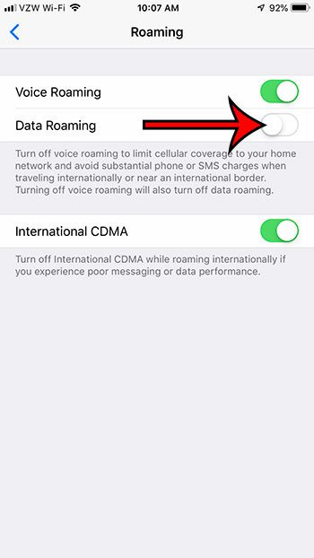 how to turn off data roaming on iphone 5