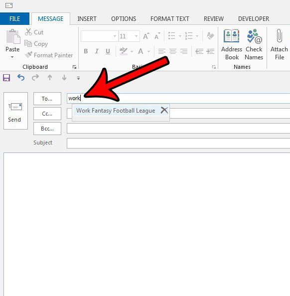 how to send an email to a distribution list in outlook 2013