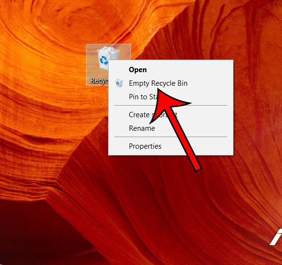 how to empty the recycle bin in windows 10