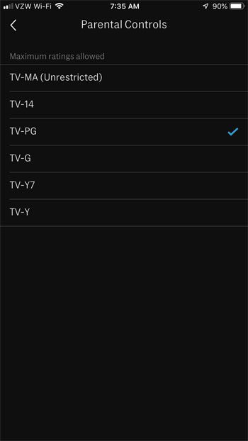 how to enable parental controls in hbo now on iphone