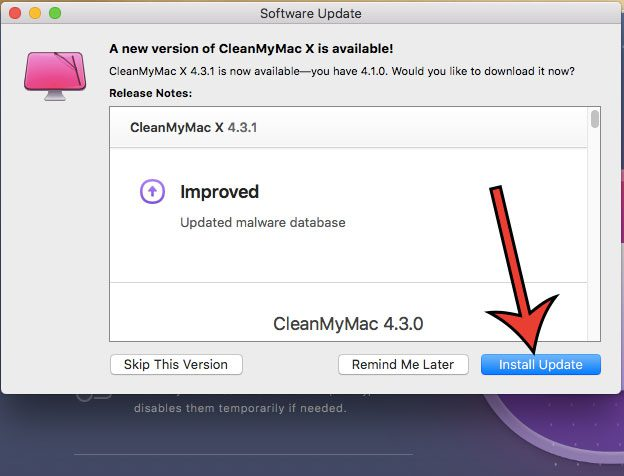 install cleanmymac x update
