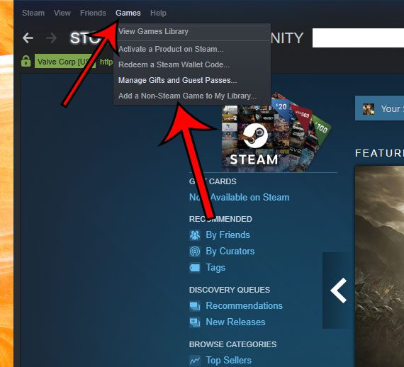 how to add a non steam game to steam