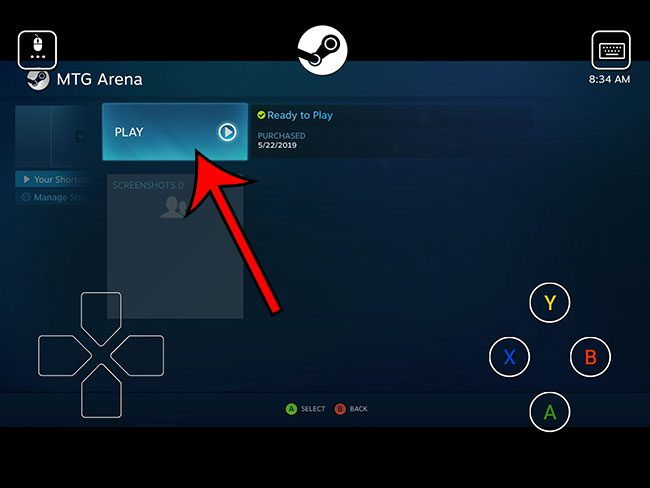 how to play magic arena on an ipad with steam link