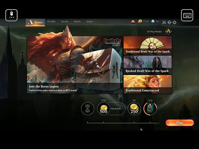 magic arena running on an ipad