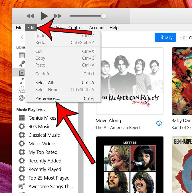 How to Change Automatic Download Settings in iTunes