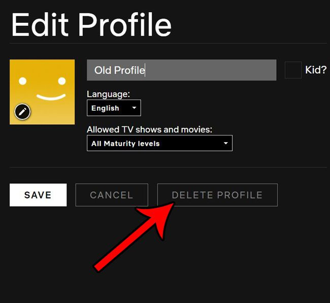 how to remove netflix profile
