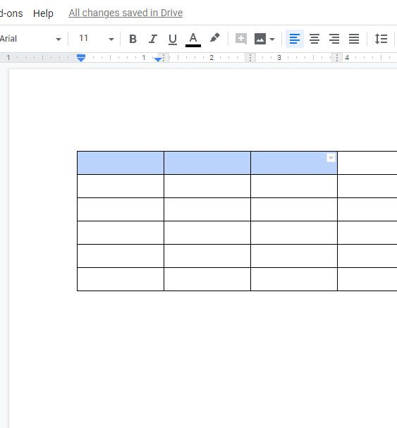 select cells to merge in google docs