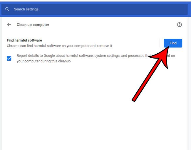 how to use the google chrome malware scanner
