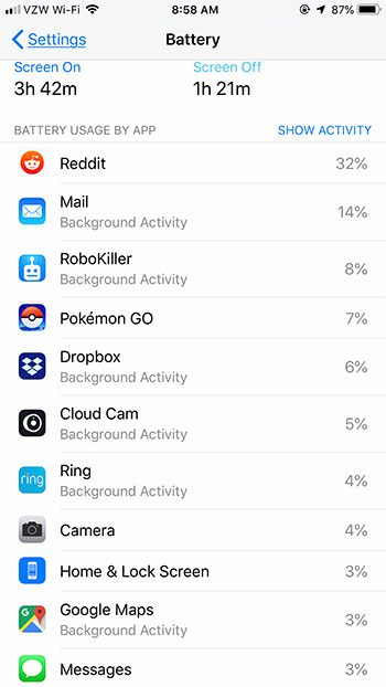 what has been draining my iPhone battery
