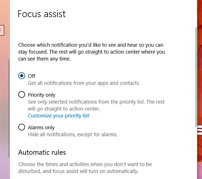 how to use Focus Assist in Windows 10