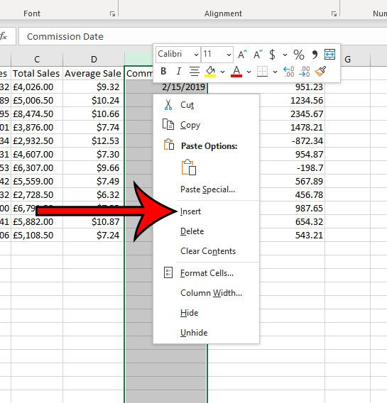 how to add a column in Microsoft Excel for Office 365