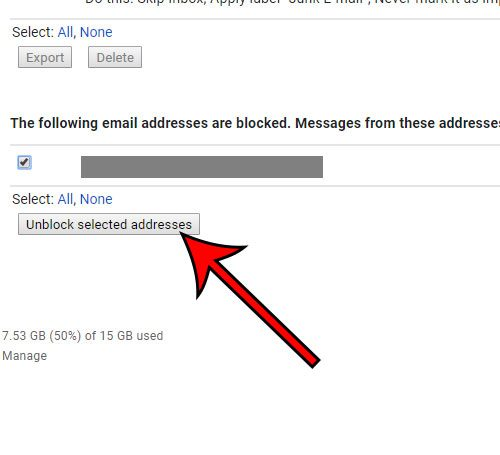 how to unlock an email address in Gmail