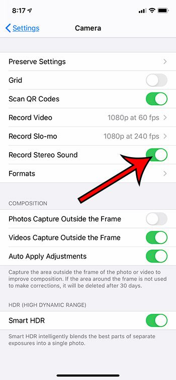 how to record stereo sound with videos in the iPhone 11 Camera app