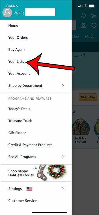 how to view your Amazon wish list on an iPhone