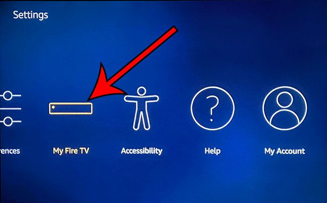 open the My Fire TV menu