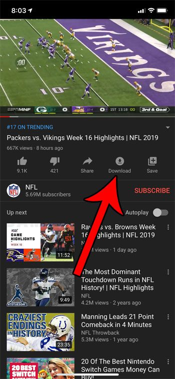 how to download a YouTube video on an iPhone