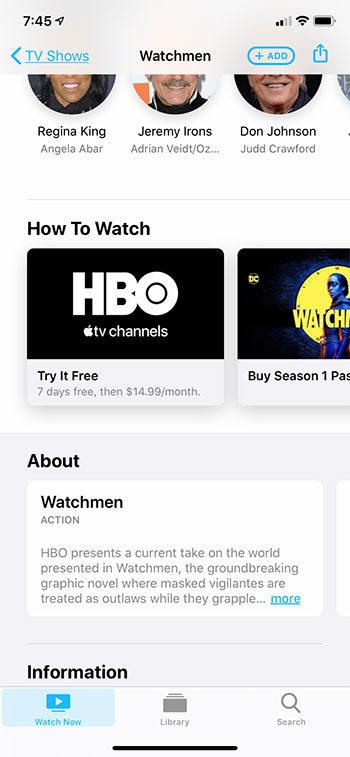 how to play TV shows on the iPhone 11