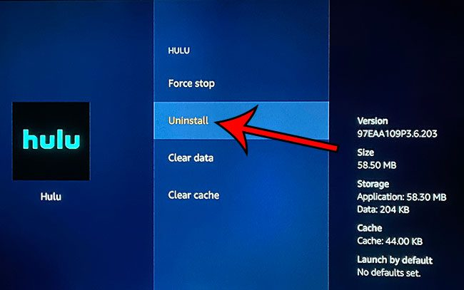 how to uninstall an app on the Amazon Fire TV Stick