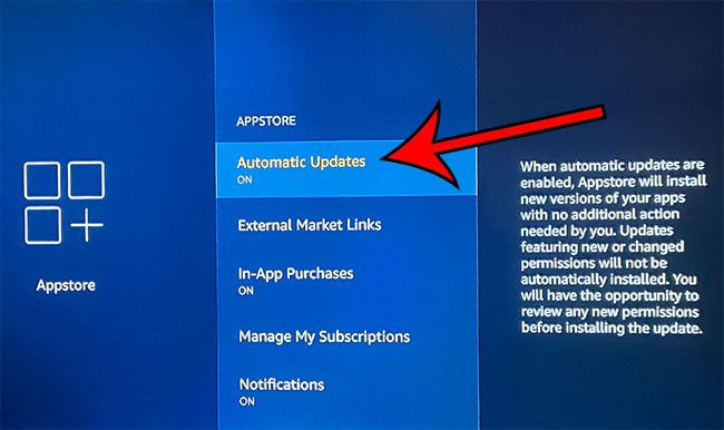 how to enable automatic updates for Fire TV Stick apps